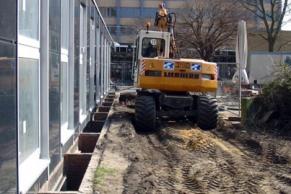 Erneuerung der Grundstücksentwässerung an der UNI Harburg