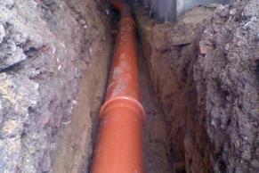 KG-Rohr DN150 für einen Hausanschluss