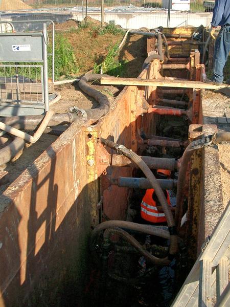 Stahlverbau Tiefe 2,40 bis 7,0 m möglich